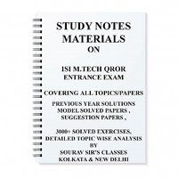 STUDY MATERIAL FOR ISI M.TECH QROR WITH TOPIC WISE ANALYSIS +20 MODEL SOLVED PAPERS+ PREVIOUS YEAR SOLUTION NOTES BOOKS