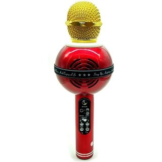 Cooolhim WS-878 MIC Bluetooth Recording Condenser Handheld Stand Speaker for Android Microphone