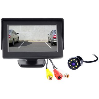 Reverse Parking Camera Display Combo For All Cars - Night Vision Camera with 4.3 inch LCD TFT Monitor Display