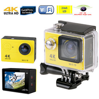 Action Camera 4K WiFi 16 MP with High Speed Shooting  Definition Equipped, Durable Waterproof to 30M with Housing