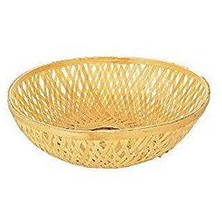 Vardhman Bamboo Fruit Vegetable Basket ,size 6 inch x 6 inch, pack of 12 pcs