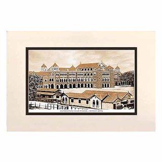 Old Vintage Bombay (Mumbai) Mounted Photo Frame of Elphistone High School