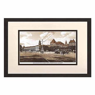 Old Vintage Bombay (Mumbai) Wooden Photo Frame of Esplanade road taken from Hornby road
