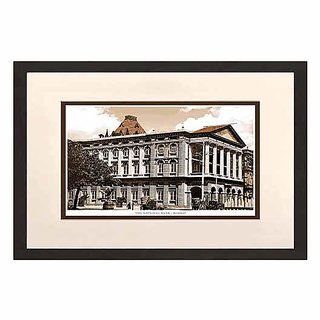 Old Vintage Bombay (Mumbai) Wooden Photo frame of The National Bank