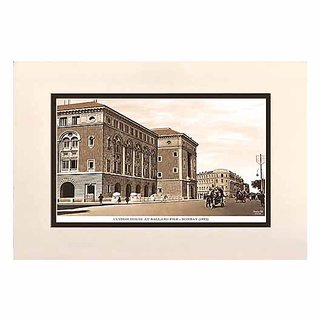 Old Vintage Bombay (Mumbai) Mounted Photo Frame of Custom House at Ballard Pier