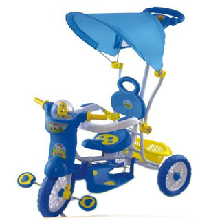 Oh Baby, Baby Helicopter Bike Musical With Tubeless Tyre 2 In 1 Function BLUE Color Tricycle For Your Kids SE-TC-130