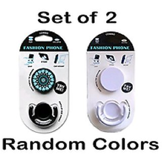 pop socket in Mobile Holder(buy1 get 1 free) ( Assorted Color and design )