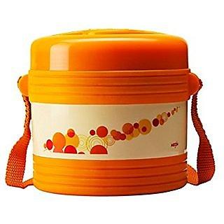 Orange color 3 container tiffin box