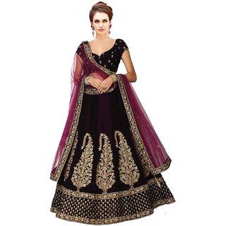New Latest Bollywood Designer Rajmahel Purple Embroidered Lehenga Choli
