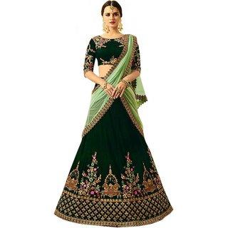 New Latest Bollywood Designer Tajmahel Green Embroidered Lehenga Choli