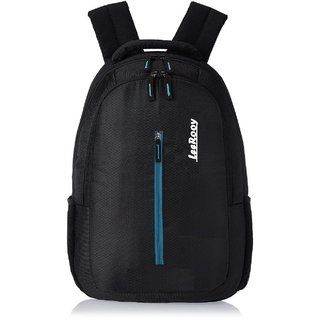 29d9e6639f90 Buy LeeRooy Nylon 25 Ltr Black College Bag Backpack For Men Online ...