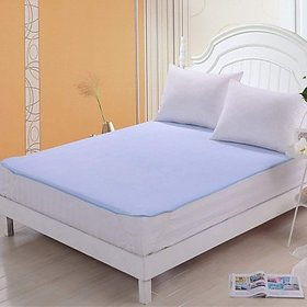Homestore-Yep Waterproof Mattress Protector Sheet Nonwoven Double Bed Cover (Size 72X75, Elasticstrap)