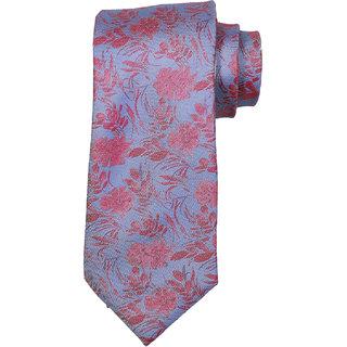 69th Avenue Men's Silk Floral Design Blue Necktie