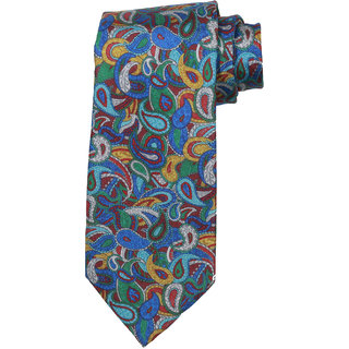 69th Avenue Men's Silk Paisley Design Blue Necktie