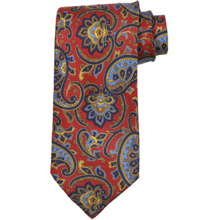 69th Avenue Men's Silk Paisley Design Red Necktie