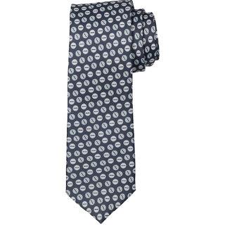 69th Avenue Men's Satin Printed Gray Necktie