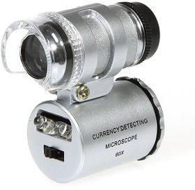 Mini 60X magnification LED Pocket Microscope Jeweler Glass Loupe+Crafts