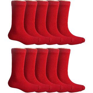 Yorker Premium Combed Cotton School Socks For Kids Boys & Girls Combo Pack of 10