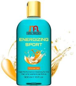 Man Arden Energizing Luxury Shower Gel - Spearmint Oil Body Wash - 300 ml / 10 fl oz