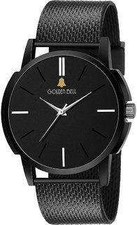 Golden Bell Original Black Dial Analog Wrist Watch for Men - GBA-1346