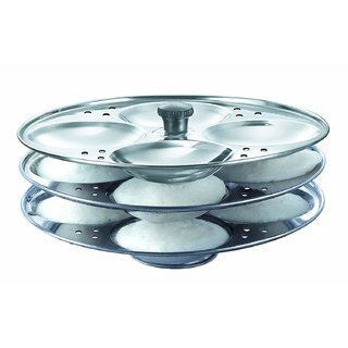 Stainless Steel 3 Plates Idli Stand
