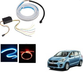 Auto Addict LED Dicky Light Ice Blue & Red DRL Brake with Side Turn Signal & Parking Indication Dicky, Trunk, Boot Strip Light For Maruti Suzuki Ertiga