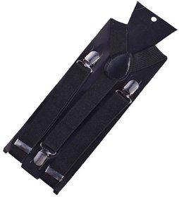 Sunshopping unisex black stretchable suspender