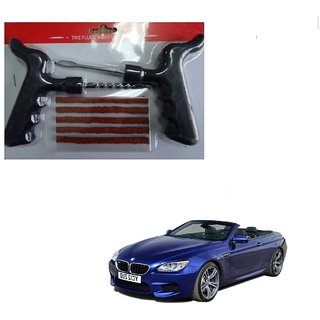 Auto Addict Car Tool Safety With 5 Strip Tubeless Tyre Puncture Repair Kit For BMW 6 Series