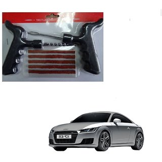 Auto Addict Car Tool Safety With 5 Strip Tubeless Tyre Puncture Repair Kit For Audi TT
