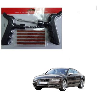 Auto Addict Car Tool Safety With 5 Strip Tubeless Tyre Puncture Repair Kit For Audi NA