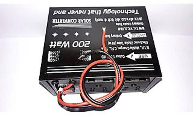 Buy 200 Watt Converter 12V Dc Power To 220V Ac For Home, DTH