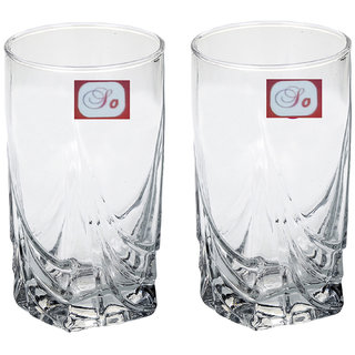 Somil Multi-Purpose Beaver Tumbler Drinking Glass Set for Home Use (Set Of 2) -AA06