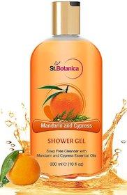 StBotanica Mandarin  Cypress Luxury Shower Gel - Mandarin  Cypress Oils Body Wash - 300 ml