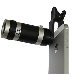 ShutterBugs 8X Zoom Optical Lens Mobile Phone Telescope Clip Lens