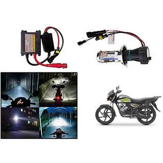 Kunjzone  Premium Quality HID Xenon Kit Bike-Motorcycle-Headlight White Hid Xenon Conversion Kit Headlight Lamp Bulbs For   Honda CD 110 Dream