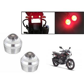 Kunjzone Bike Red LED Projector Strobe Brake Lights Set Of 2  For Bajaj Pulsar 135 LS