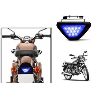 Kunjzone Blue 12 LED Brake Light with Flasher  For Hero Splendor PRO