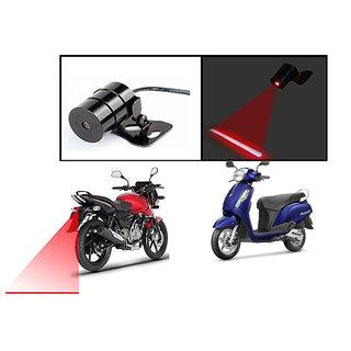 Kunjzone  Bike Rear Laser Safety Line Fog Light RED For  Suzuki Access 125