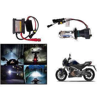 Kunjzone  Premium Quality HID Xenon Kit Bike-Motorcycle-Headlight White Hid Xenon Conversion Kit Headlight Lamp Bulbs For   Bajaj Dominar 400