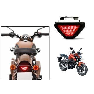Kunjzone Red 12 LED Brake Light with Flasher  For Honda CB Horn For  + Kunjzone Horn For  Relayet 160R