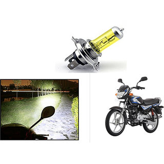 Kunjzone  Bike H4 Halogen Bulb Yellow For   Bajaj CT100