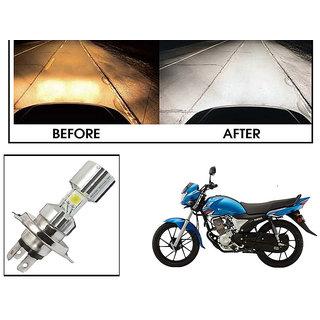 Kunjzone  Silver Missile Hi Low Beam H4 Bike Bulb Motorcycle LED Headlight Bulb For Yamaha Saluto RX