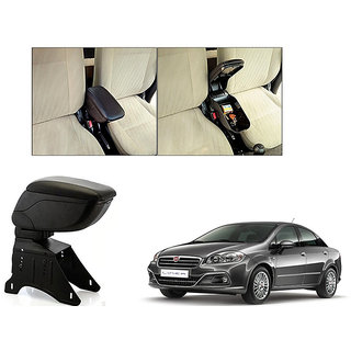 Kunjzone Car Armrest Console Black Color For Fiat Linea
