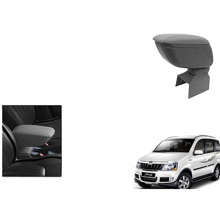 Kunjzone Car Armrest Console Grey Color For Mahindra Xylo