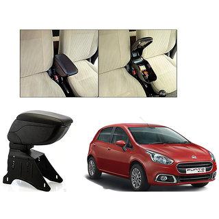 Kunjzone Car Armrest Console Black Color For Fiat Punto Evo