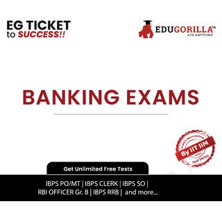 EduGorilla Bank Exam Test Series (1 Month)