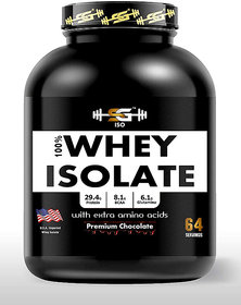 SG WELNESS ISO-Zero Carb Whey Isolate Protein Powder with BCAA, Glutamine and Extra Amino Acids (5 lbs/2.2 kg 64 Servings X 35 g)