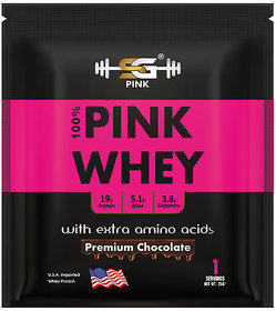 SG PINK Whey Protein Powder For Women - Her Natural Whey Protein Powder to Support Lean Muscle Mass - Low Carb - Gluten Free - rBGH Hormone Free - Naturally Sweetened - (Premium Chocolate-25g)
