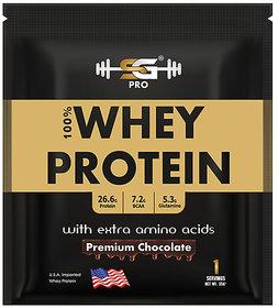 SG WELNESS Pro Gold Standard Whey Protein Powder with BCAA and Glutamine Suppliment (Chocolate, 35 g)