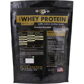 SG WELNESS Pro Gold Standard Whey Protein Powder (Chocolate) -13 Servings